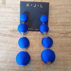 Fun blue dangle earrings